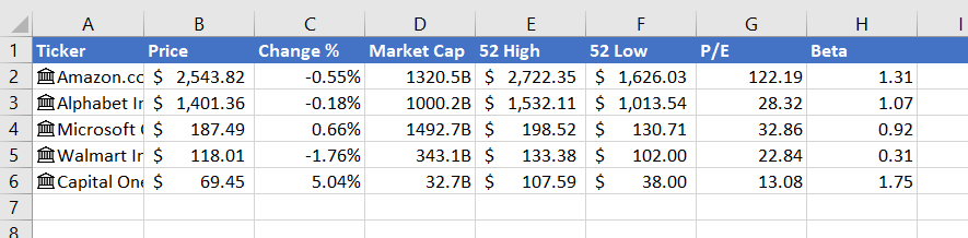 Stock Tracker Part 1